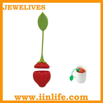 New design food grade leaf shape silicone tea infuser for tea tools