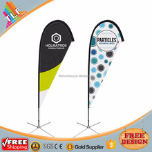Advertising custom banner flags X base teardrop beachflag