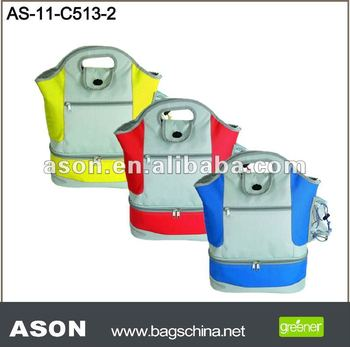 two-layer 600D insulated cooler bag