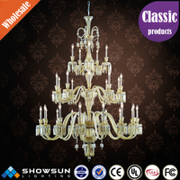 Chinese process candle beaded plexiglass decoration chandelier