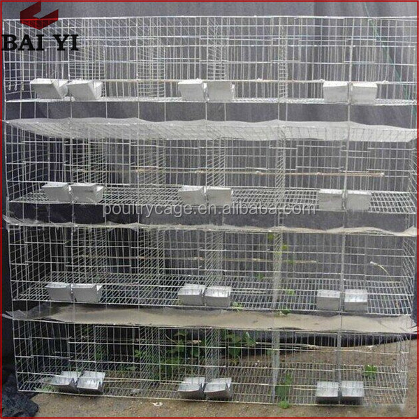 Custom Double Battery Rabbit Farming Cages For Sale