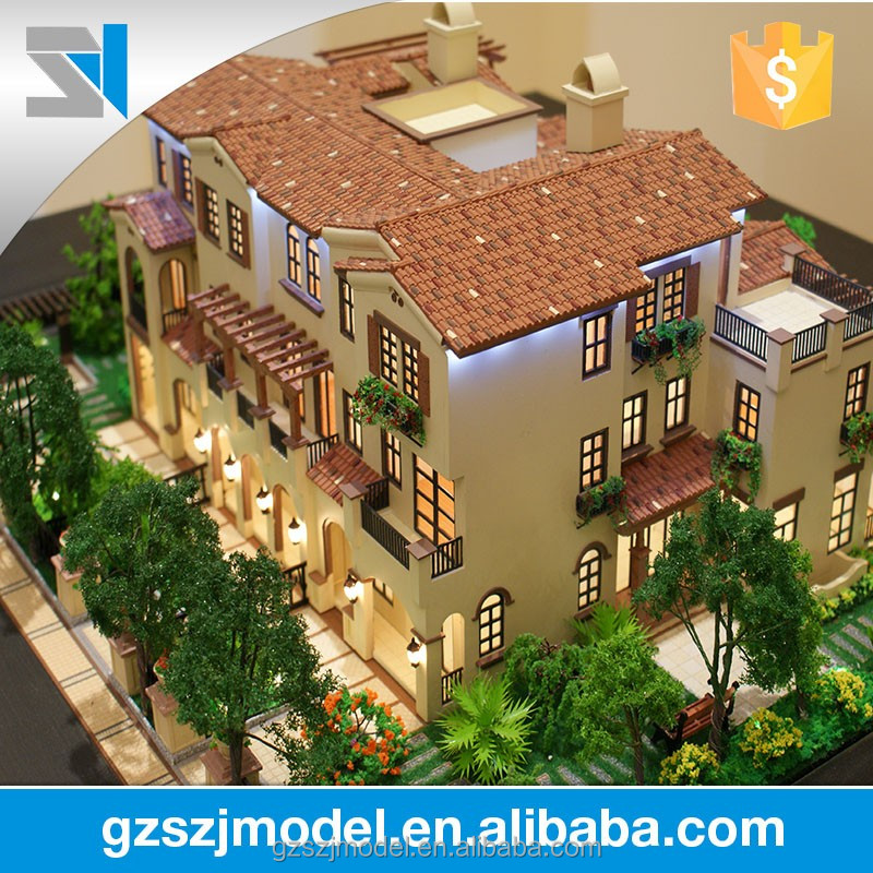 Villa building scale model ,real estate & construction 3d model