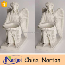 Import China Norton products resin angel statue with flower pot NT-FSB051