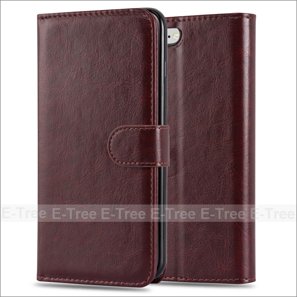 2 In 1 Wallet Pu Leather Book Flip Stand ID Window Case Cover For Apple iPhone 7 Plus
