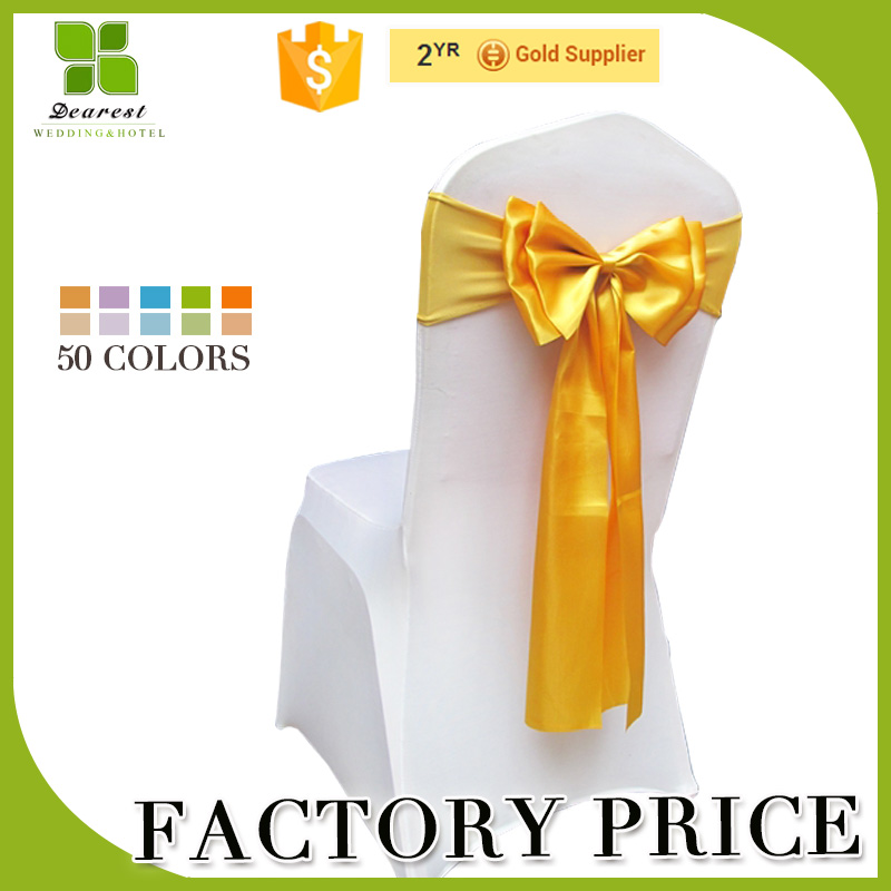Wholesale Stain Chair sash ,Double layer bow, Wedding Chair Covers Decoration