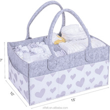 Amazon hot selling Portable Design Felt Diaper Bag Baby Felt Diaper Organizer with Changing Insert