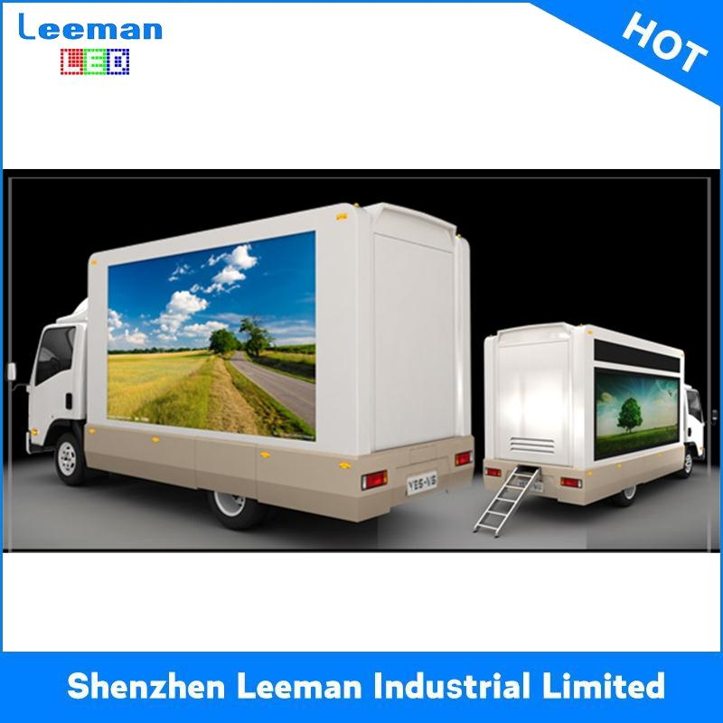 mini truck concrete mixer solar powered traffic vms trailer hd advertising taxi screen