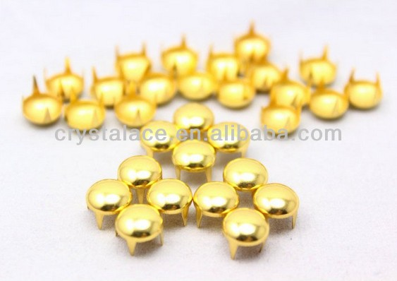 Wholesale gold dome spike studs for shoes and leather