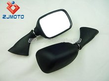 Motorcycle Rear Mirrors for 1999-2007 Suzuki GSX 600 750 1000 1300 Hayabusa Black Racing Mirrors OEM Replacement Mirror