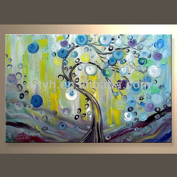 Colorful Tree Designs Handmade Landscape Wall Artwork