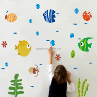 Cute Kids Room Decal Art Wall Home Mural Free Fishing Stickers