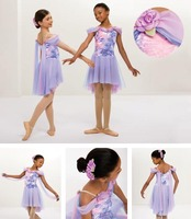 New adult teen girl lyrical dancewear costume elegant performance skirt new design ballet dance party dance dress