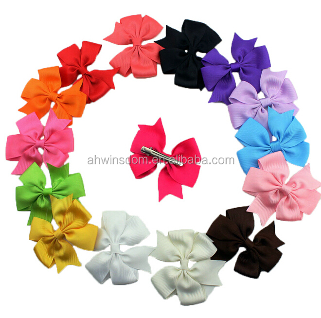 d47682a 2016 wholesale bowknot hair clip for baby girls pins