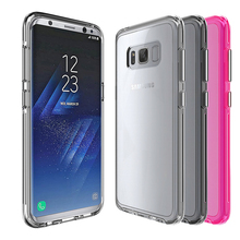 Crystal Clear PC Back TPU Bumper case for samsung galaxy s8