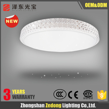 New 2016 innovative product Popular light fixture of ceiling in Europe zhongshan Flush Mount 60w round led Ceiling light