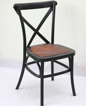new design outdoor RESIN crossback chair/restaurant stackable dining chair