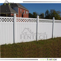 privacy fence with top lattice