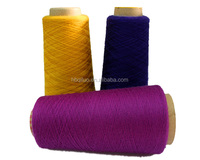 Hot Sale Wholesale Beautiful Color Polyester Blended Cotton CVC 60/40 China Spun Dyed Yarn