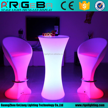 Fashion nice wireless battery remote bar party LED Shinning cocktail table