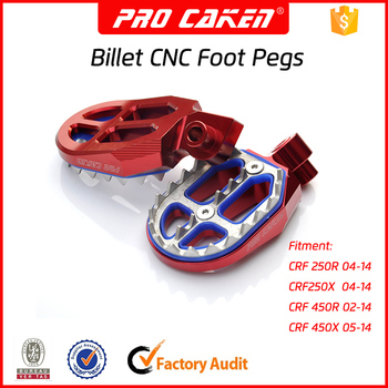 cnc aluminum foot pegs,motorcycle spare parts foot pegs for CRF250 CRF450