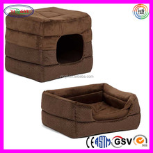B755 2-in-1 Plush Pet House Cages Dog Puppy Cube-Cuddle Pet Dog Cages