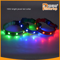 Polyester Nylon Dog Pet Bright led Collar ,Matching Leash & Harness Available Separately