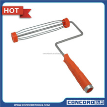 "9"" paint roller 5 wire roller frame with red plastic handle with screw thread American style"
