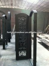 Wrought iron door designs pooja room made in China factory