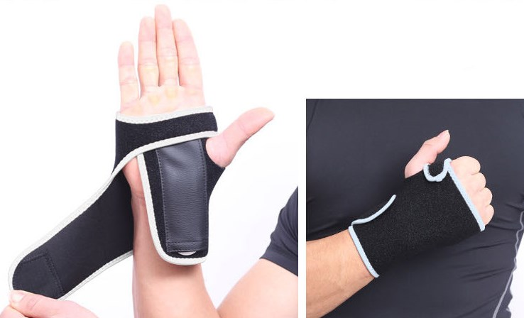 high elastic thumb support wrist bracer band wraps with Metal Supportive Panel