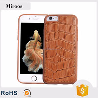 Wholesale new product PC TPU back cover case for iphone 6 genuine leather cover