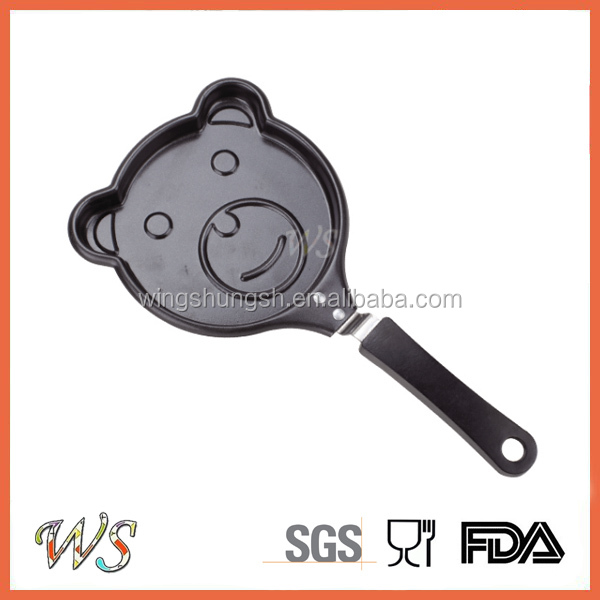 WS-FP02 Home cookware carbon steel egg fry pan mini egg pan