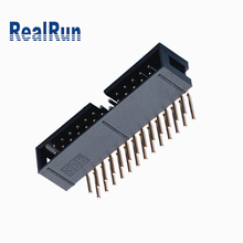 2.54mm pitch Electrical Box Header Dual Row Connector