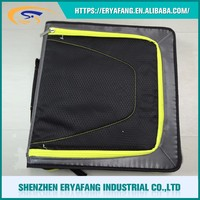 A4 Zipper Conference Folder Ring Binder PP Ring Binder File