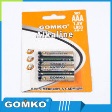wholesale 1.5V AAA LR03 alkaline dry battery round cell