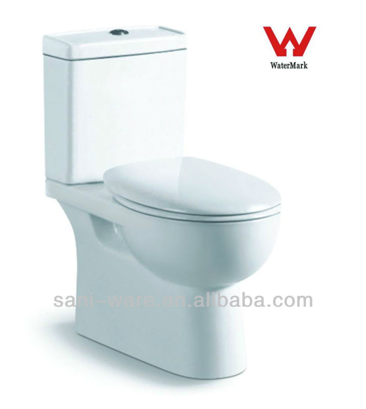 Two piece washdown wc pan with WaterMark approved in bathroom S8017