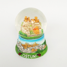 Custom Shape resin Small building snowball