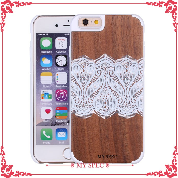 wooden color cell phone cover for iphone 6s, for iphone 6 plus bamboo case