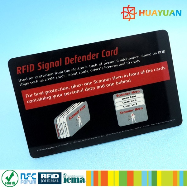 custom dibet card fraud protection RFID Scan blocker made in China