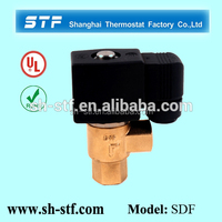 SDF 2 way direct acting type natural gas 24v brass solenoid valve