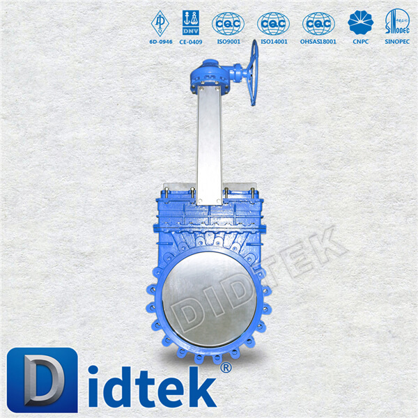 Didtek Industrial High Quality Fast Delivery Cast Steel Manual Operated knife gate valve for Paper Plant
