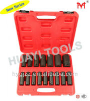 Industrial and Auto Repairing Tool 16PC 1/2 inch Drive SAE Deep Wall Impact Socket Set
