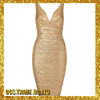 Hot Selling New Spaghetti Straps Black hot sell one-shoulder ombre bandage dress