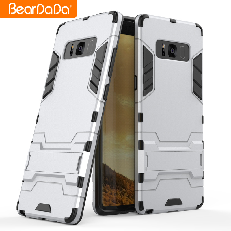 High quality armor tpu pc kickstand phone back cover case for samsung galaxy note 8 5