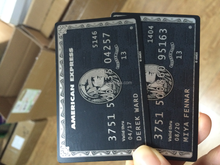 Luxury American Express Amex metal card