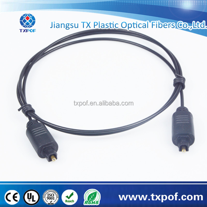 5.0mm Consumer Audio Cable,used in MiniDisc, CD and DVD players, DAT recorders, computers,toslink connector cable