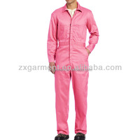 Wholesale fire retardant coverall adult pink coveralls anti acid workwear
