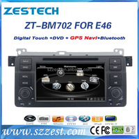 ZESTECH 7 inch In Dash Single Din HD Touch Screen Car DVD Player for BMW E46 GPS Navigation Stereo