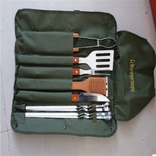 stainless steel bbq set grill tools barbeque utensil set