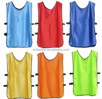 wholesale custom print polyester football soccer training vests