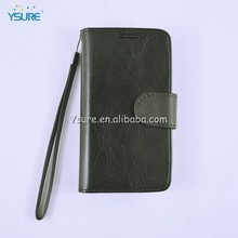 Premium leather cell phone case for BLU Deco Mini/Q120 with 3 credit card slots